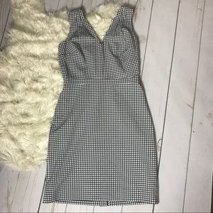 J CREW | V-Neck Seersucker Dress | Gingham |Size 6